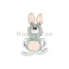 Hračka FLAMINGO plyš - Small Dog Cub králík Ilva zelený 21x10x29