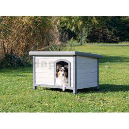 Bouda pro psa TRIXIE Natura s rovnou střechou šedá (S-M) 85x58x6