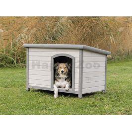 Bouda pro psa TRIXIE Natura s rovnou střechou šedá (M-L) 104x72x