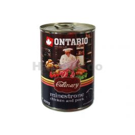 Konzerva ONTARIO Culinary Minestrone Chicken and Pork 400g
