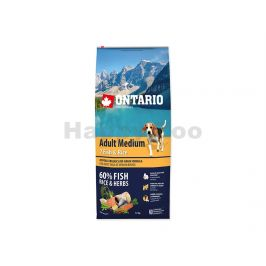ONTARIO Adult Medium 7 Fish & Rice 2x12kg