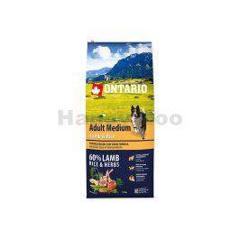 ONTARIO Adult Medium Lamb & Rice 2x12kg