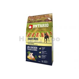 ONTARIO Adult Mini Chicken & Herbs 2x6,5kg