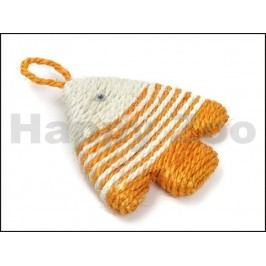 Hračka pro kočky JK - sisalová rybička 12x12cm