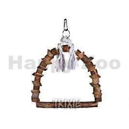 Dřevěná houpačka TRIXIE z přírodního dřeva menší 15x20cm