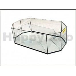 Želvárium skleněné osmihranné (L) 60x30x20cm