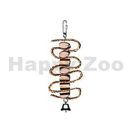 Hračka pro ptáky TRIXIE - sláma, dřívka a zvoneček 21cm