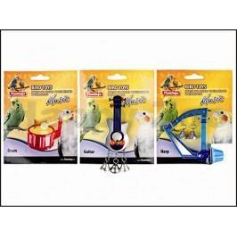 Hračka pro ptáky KARLIE-FLAMINGO - hudební nástroje 8cm (MIX BAR