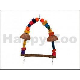 Hračka pro ptáky KARLIE-FLAMINGO - houpačka se dřívky 36x39cm