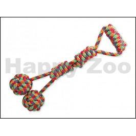 Hračka DOG FANTASY bavlna - madlo s dvěma míči 57cm