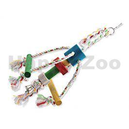 Hračka pro ptáky BIRD JEWEL - Chobotnička provaz se dřívky 10x15
