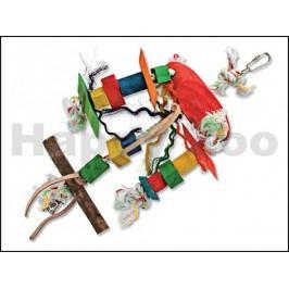 Hračka pro ptáky BIRD JEWEL - Tripod provaz se dřívky 31x4x23cm