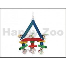 Hračka pro ptáky BIRD JEWEL - Trojúhelník provaz se dřívky 29x7x