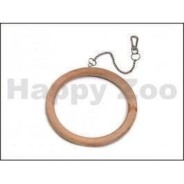 Hračka pro ptáky KARLIE-FLAMINGO - závěsný dřevěný kruh 15cm