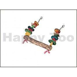 Hračka pro ptáky KARLIE-FLAMINGO - závěsná dřevěná barevná houpa