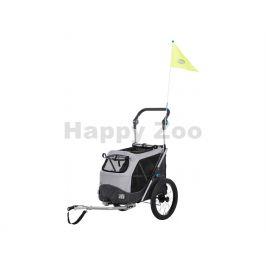 Vozík za kolo, s funkcí rychlého skládání S 58x93x74/114cm šedý