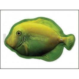 Hračka DOG FANTASY textil - žlutá ryba 28cm