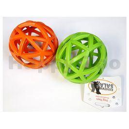 Hračka SALAČ guma - děrovaný míček zelený 12,5cm