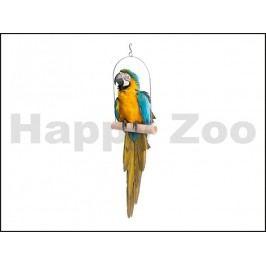 Hračka JK pro ptáky - dřevěná houpačka (XL) 16x23cm