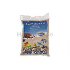 Písek pro ptáky DUVO+ hygienický hnědý s mušlemi 5kg