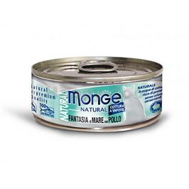 Konzerva MONGE Cat - mořské plody a kuře 80g