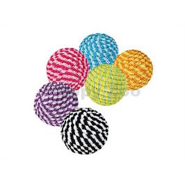Hračka pro kočky TRIXIE - provazový míček 4,5cm (MIX BAREV)