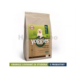 YOGGIES Minigranule jehněčí & bílá ryba 5kg
