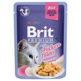 Brit premium cat delicate fillets v želé s kuřetem 85g
