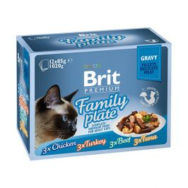 Brit premium cat delicate fillets in gravy family plate 1020g (12x85g)