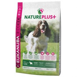 Eukanuba nature plus+ adult medium breed rich in freshly frozen lamb 10kg