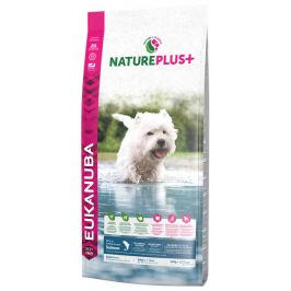 Eukanuba nature plus+ adult small breed rich in freshly frozen salmon 14kg