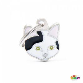 Známka My Family Friends Evropská krátkosrstá kočka černobílá