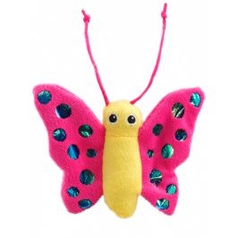 Hračka magic cat motýl plyš s catnip 13cm