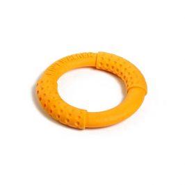 Hračka kiwi walker tpr guma kruh oranžový 13cm