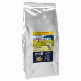 Ontario senior mini lamb and rice 6,5kg + 1kg zdarma