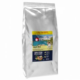 Ontario adult mini fish and rice 6,5kg + 1kg zdarma