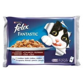FELIX Fantastic kapsičky masové hody s králíkem a jehněčím v želé 400g