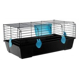 Klec SMALL ANIMAL Ludvík černá s modrou výbavou