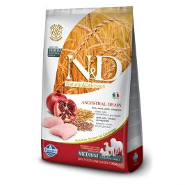 N&d ancestral grain dog adult m/l chicken & pomegranate 12kg
