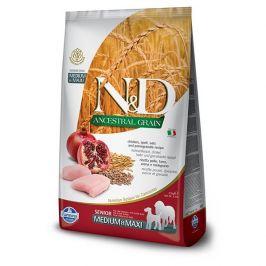 N&d ancestral grain dog senior m/l chicken & pomegrate 12kg