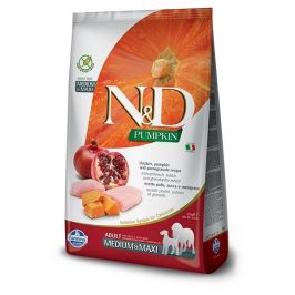 N&d pumpkin dog adult m/l chicken & pomegranate 12kg