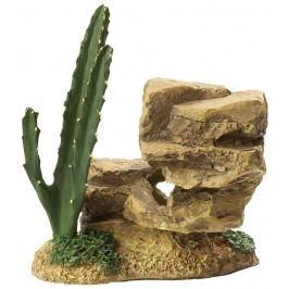 Aqua Excellent Dekorace Skála s kaktusem 12,2 cm