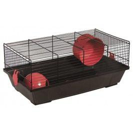 Klec SMALL ANIMAL Viktor černá s červenou výbavou