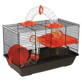 Klec SMALL ANIMAL Patrik černá s červenou výbavou