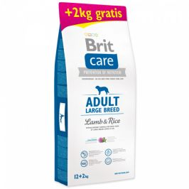 Brit care adult large breed lamb & rice 12+2kg zdarma