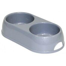 Dvojmiska Dog Fantasy plast 2*570ml šedá