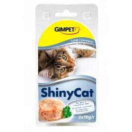 Gimpet Konzerva SHINY CAT tun+krevety 2x70g