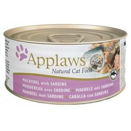 Konzerva Applaws Cat makrela & sardinky 70g