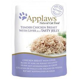 Kapsička Applaws cat kuře, játra v želé 70g