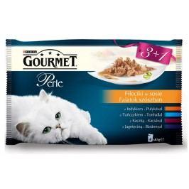 Gourmet Perle Multipack 4*85g - mini filetky ve šťávě 3+1 zdarma